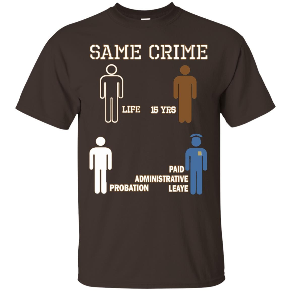 Same Crime T-Shirt Dark Chocolate / 5XL