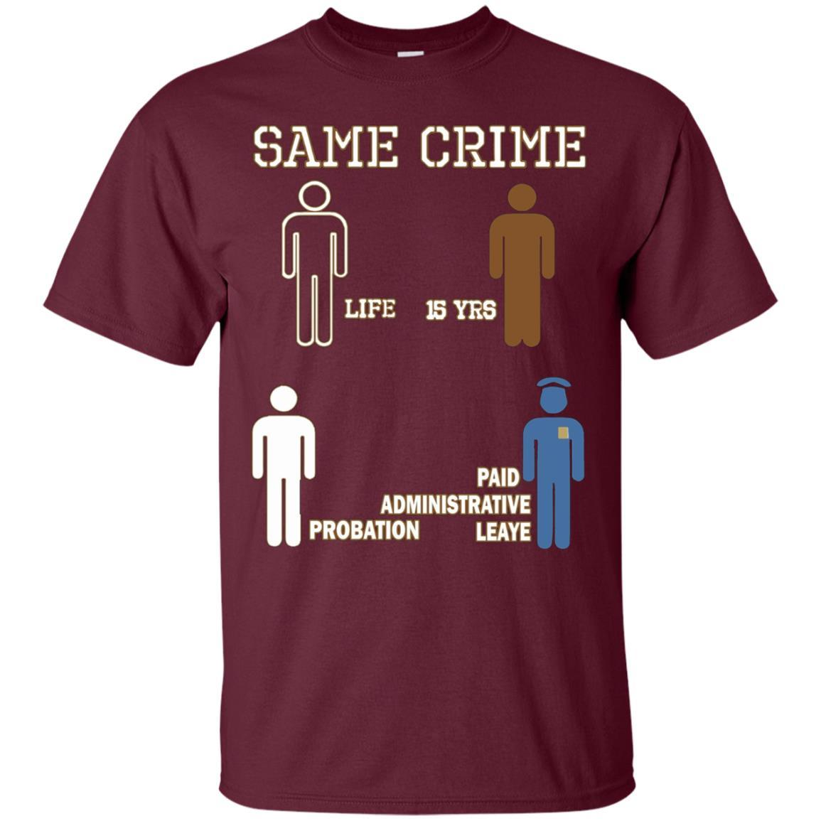 Same Crime T-Shirt Maroon / 5XL