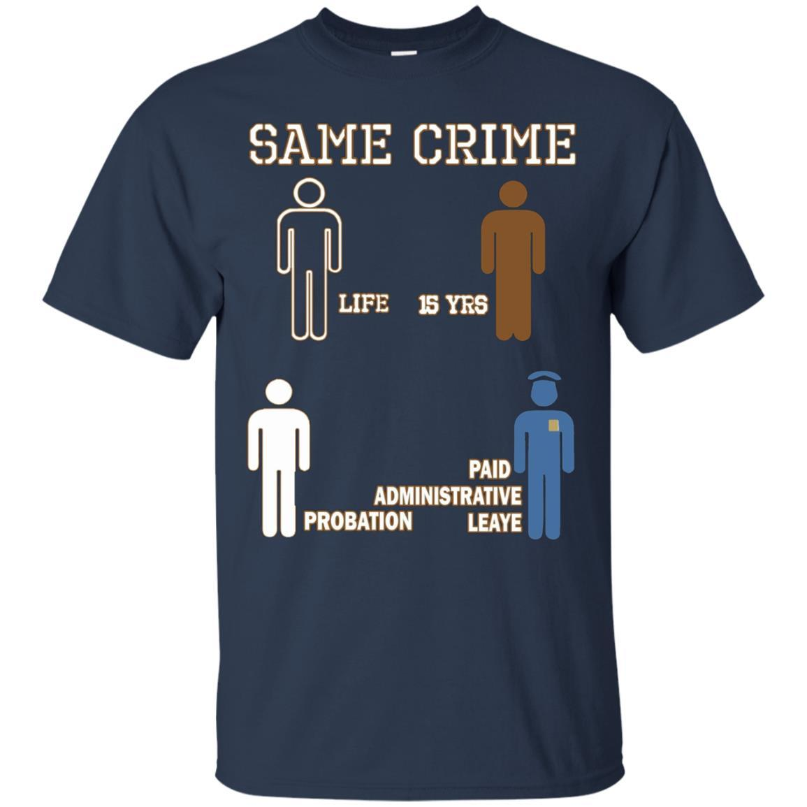 Same Crime T-Shirt Navy / 5XL