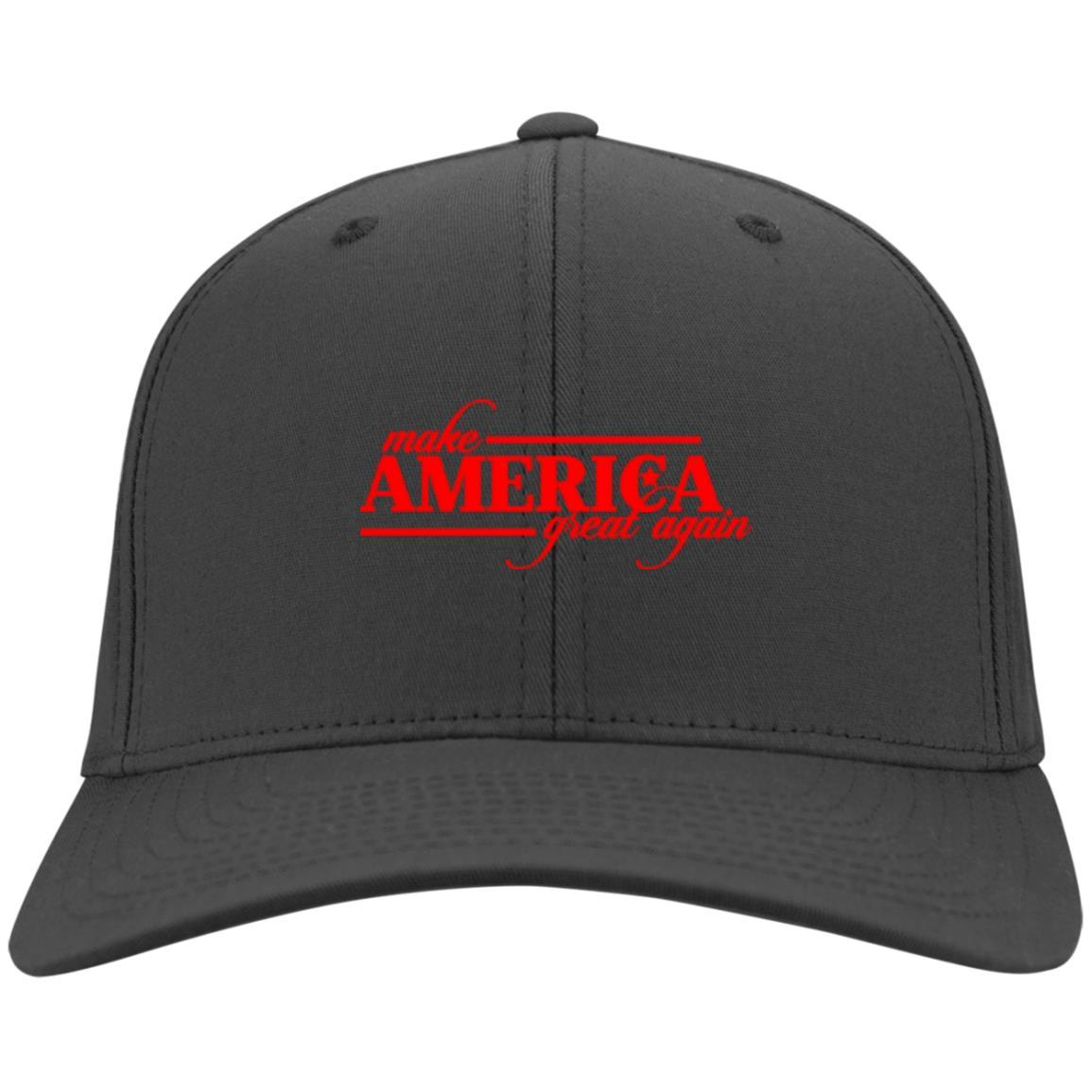 Make America Great Again - Port & Co. Twill Cap Charcoal