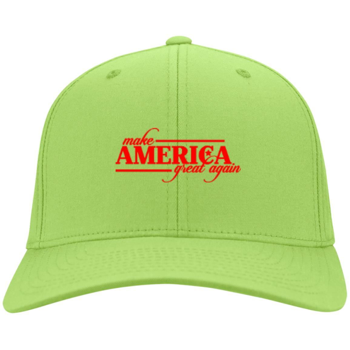 Make America Great Again - Port & Co. Twill Cap Lime