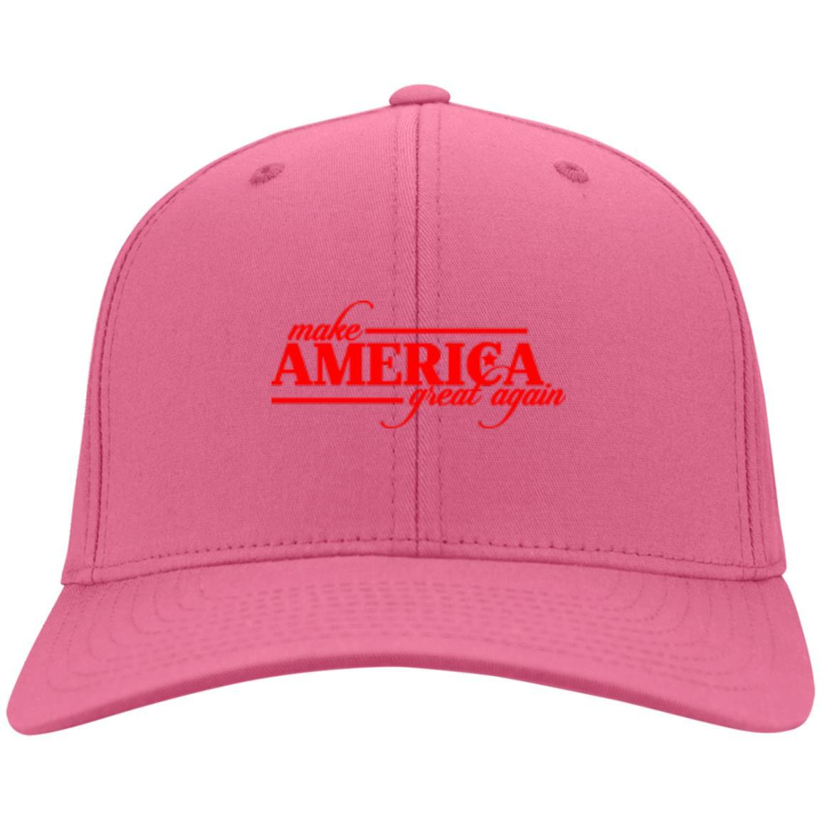 Make America Great Again - Port & Co. Twill Cap Neon Pink