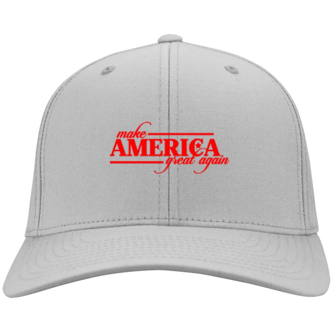 Make America Great Again - Port & Co. Twill Cap Silver