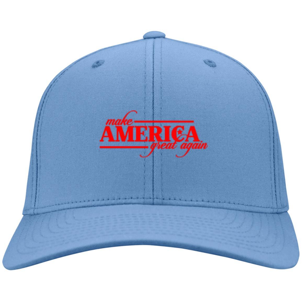 Make America Great Again - Port & Co. Twill Cap Carolina Blue