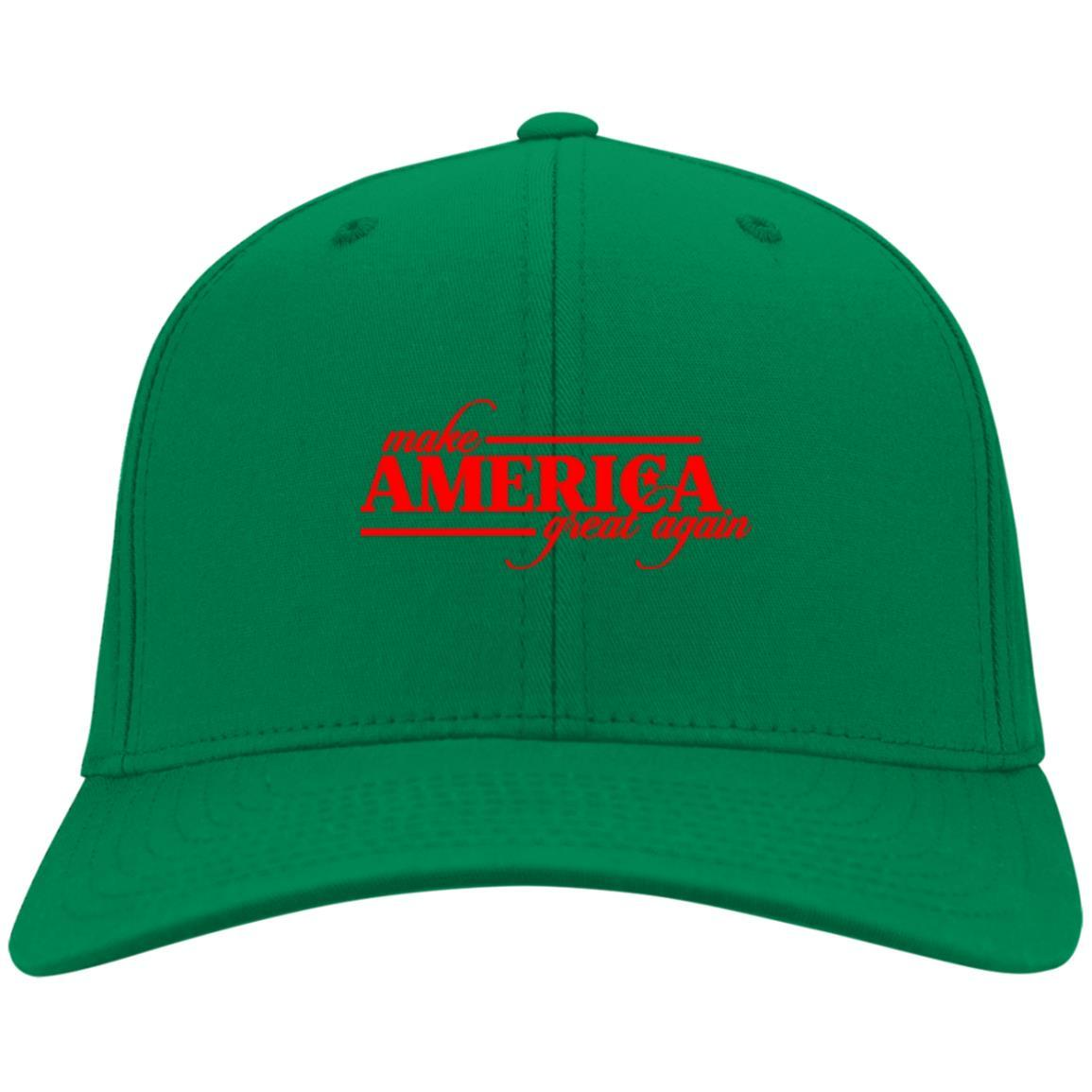 Make America Great Again - Port & Co. Twill Cap Kelly Green