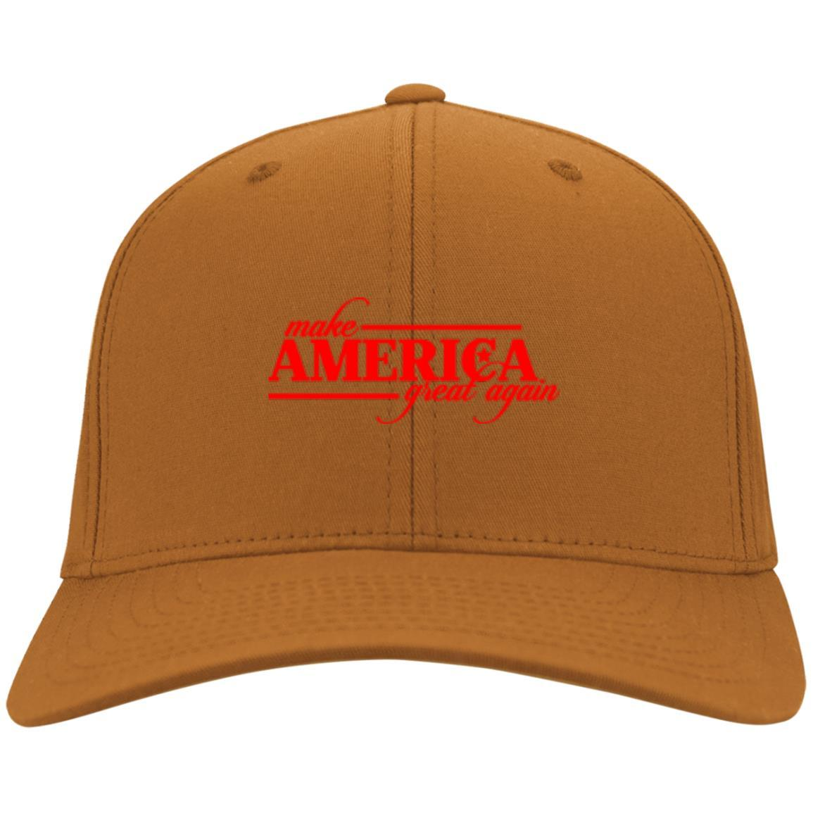Make America Great Again - Port & Co. Twill Cap Texas Orange