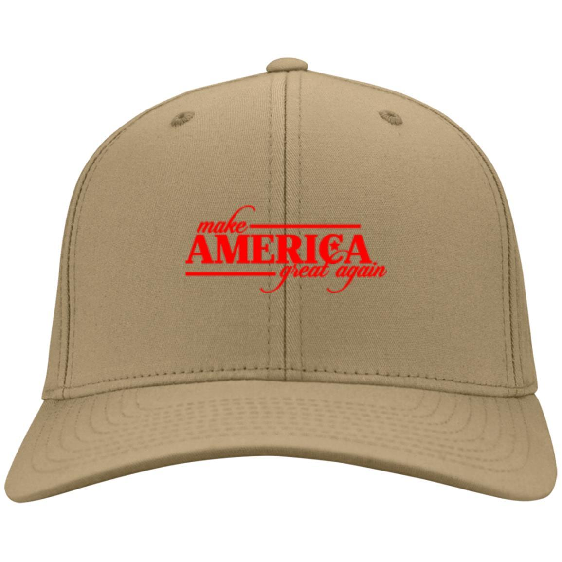 Make America Great Again - Port & Co. Twill Cap Vegas Gold