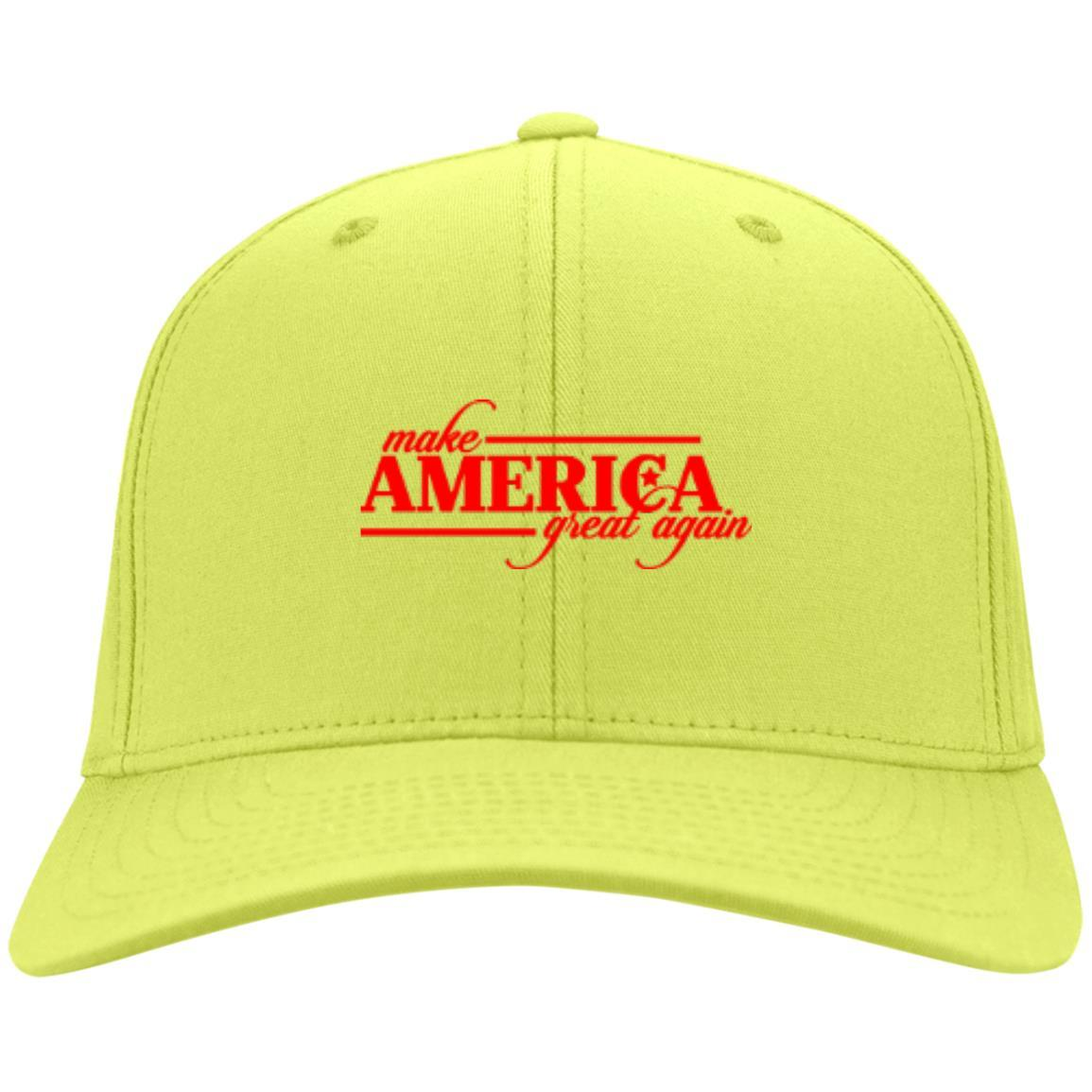 Make America Great Again - Port & Co. Twill Cap Neon Yellow