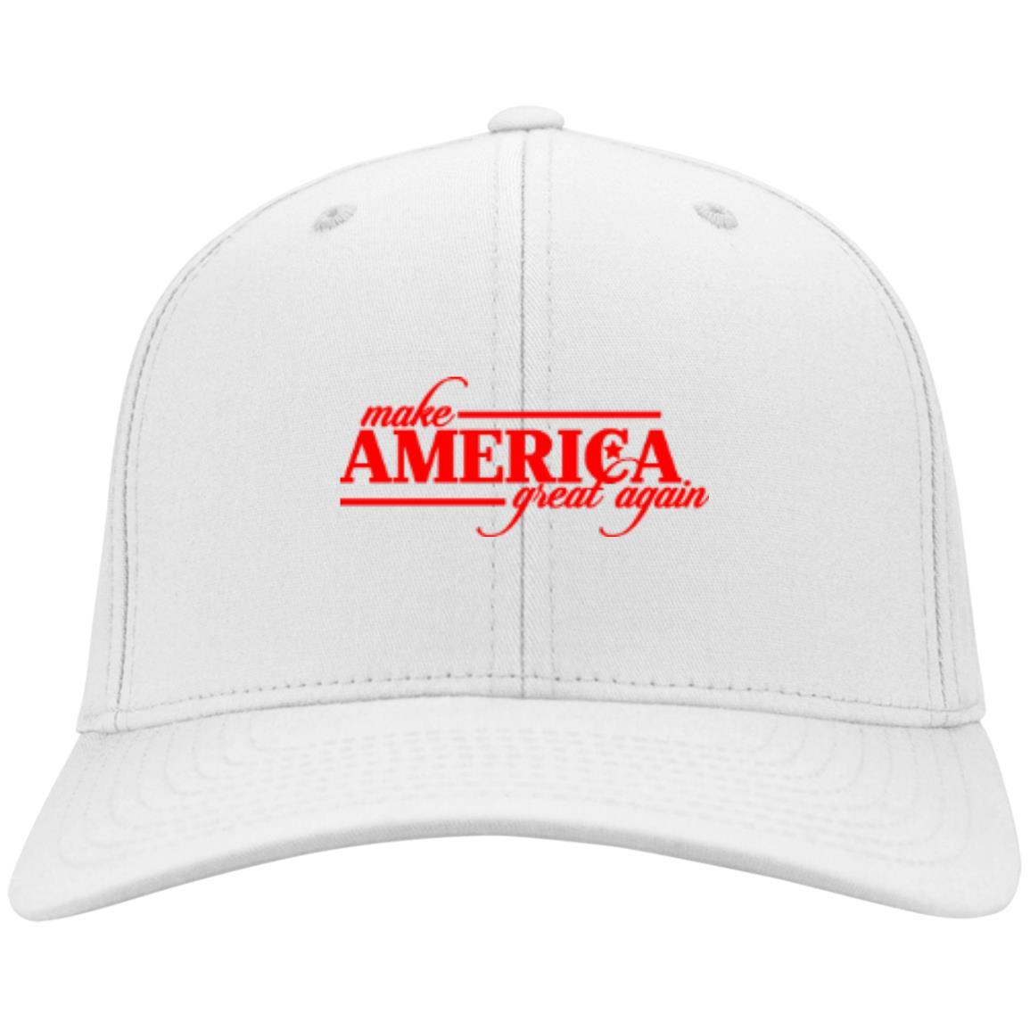 Make America Great Again - Port & Co. Twill Cap White