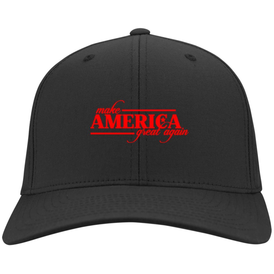 Make America Great Again - Port & Co. Twill Cap Black