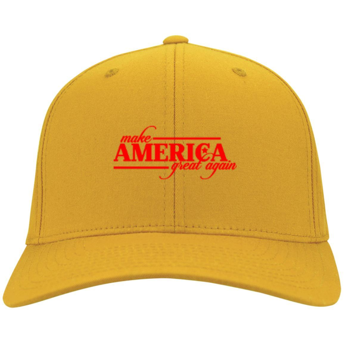 Make America Great Again - Port & Co. Twill Cap Gold