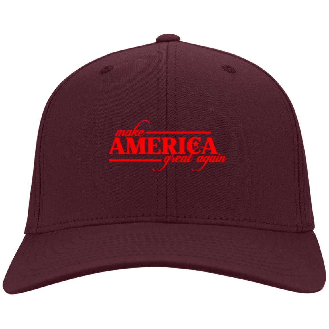 Make America Great Again - Port & Co. Twill Cap Maroon