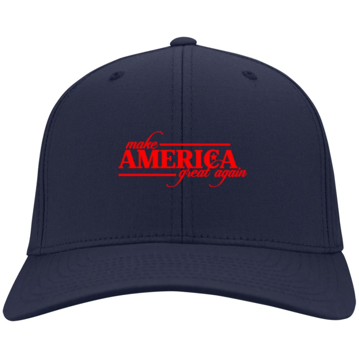 Make America Great Again - Port & Co. Twill Cap Navy