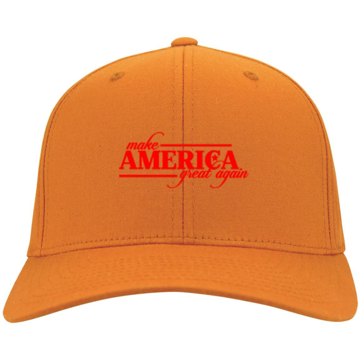 Make America Great Again - Port & Co. Twill Cap Orange