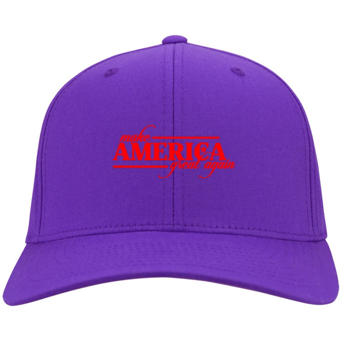 Make America Great Again - Port & Co. Twill Cap Purple