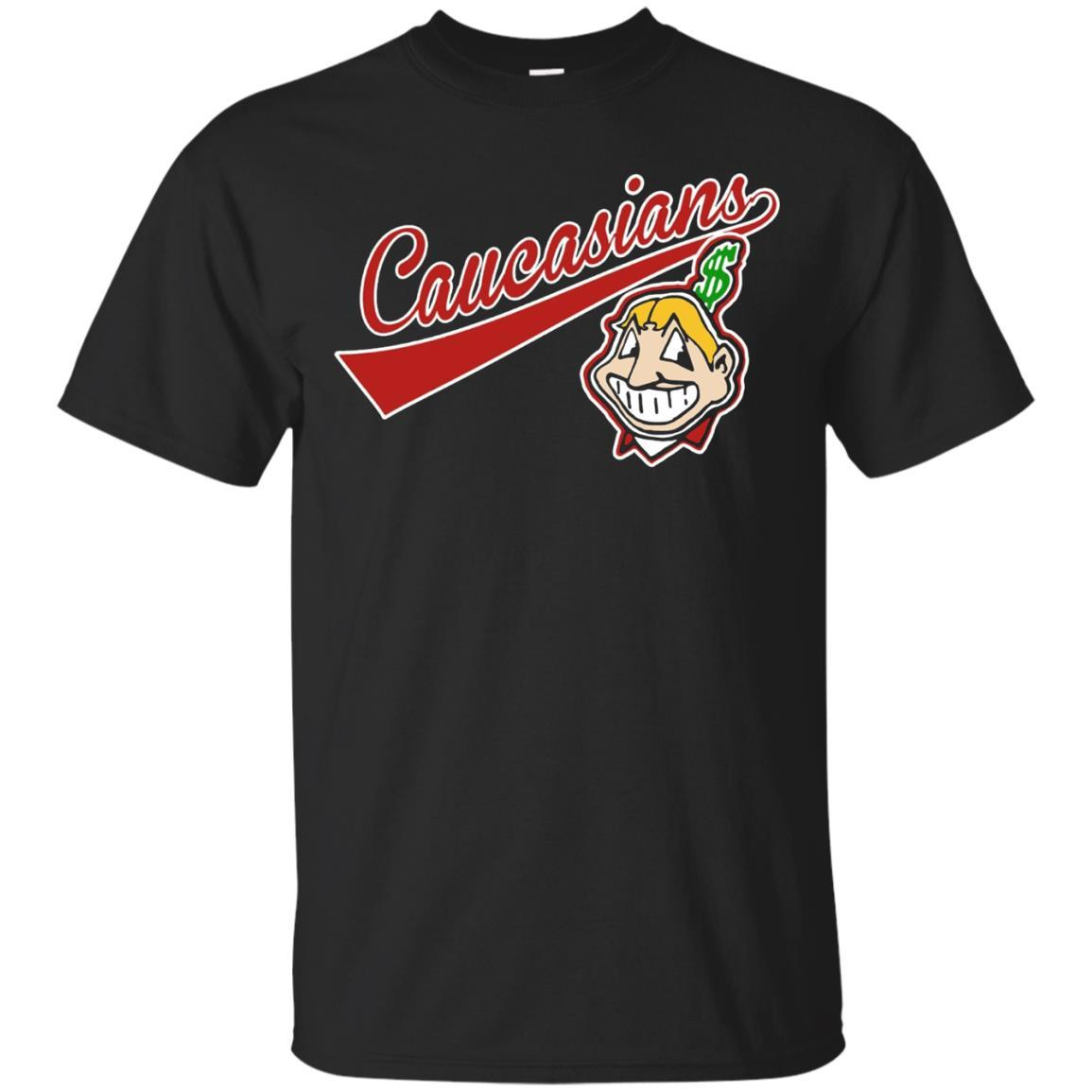 Cleveland Caucasians Native Go Indians T-Shirt Black / 5XL