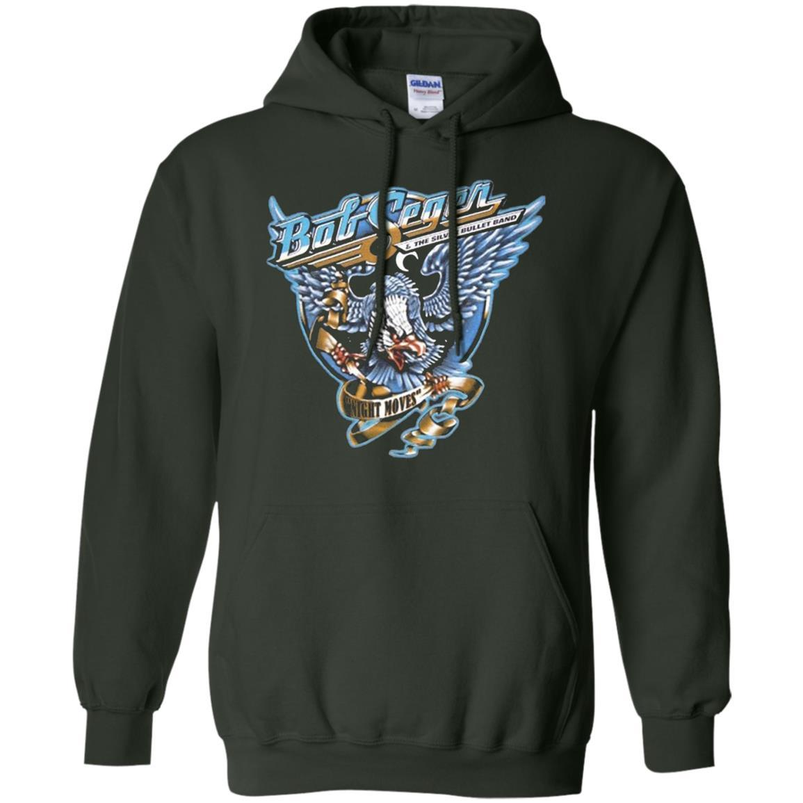 BOB SEGER NIGHT MOVES Classic Rock Music Vintage - Pullover Hoodie Forest Green / 5XL