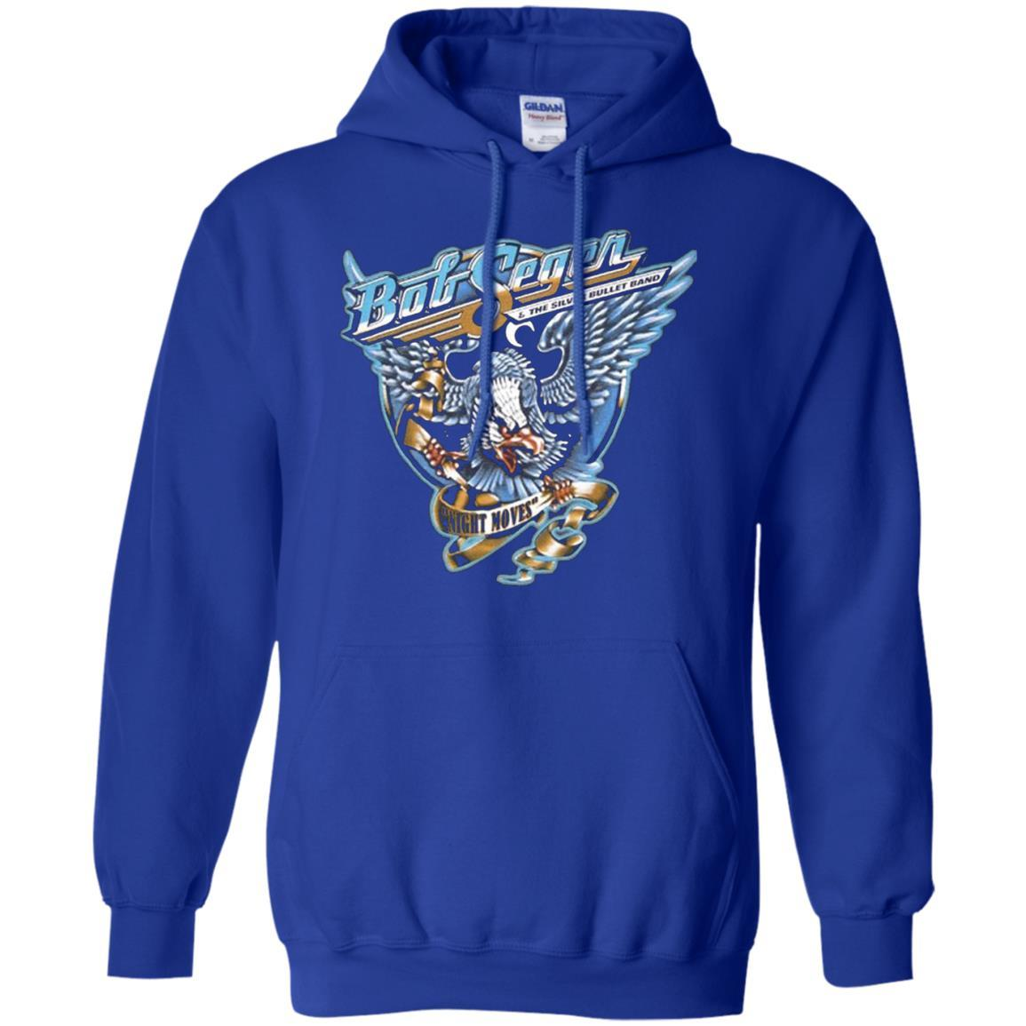 BOB SEGER NIGHT MOVES Classic Rock Music Vintage - Pullover Hoodie Royal / 5XL