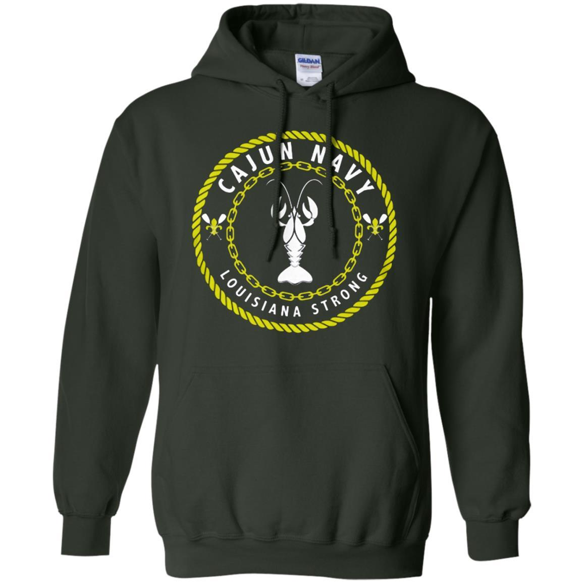 Cajun Navy - Pullover Hoodie Forest Green / 5XL