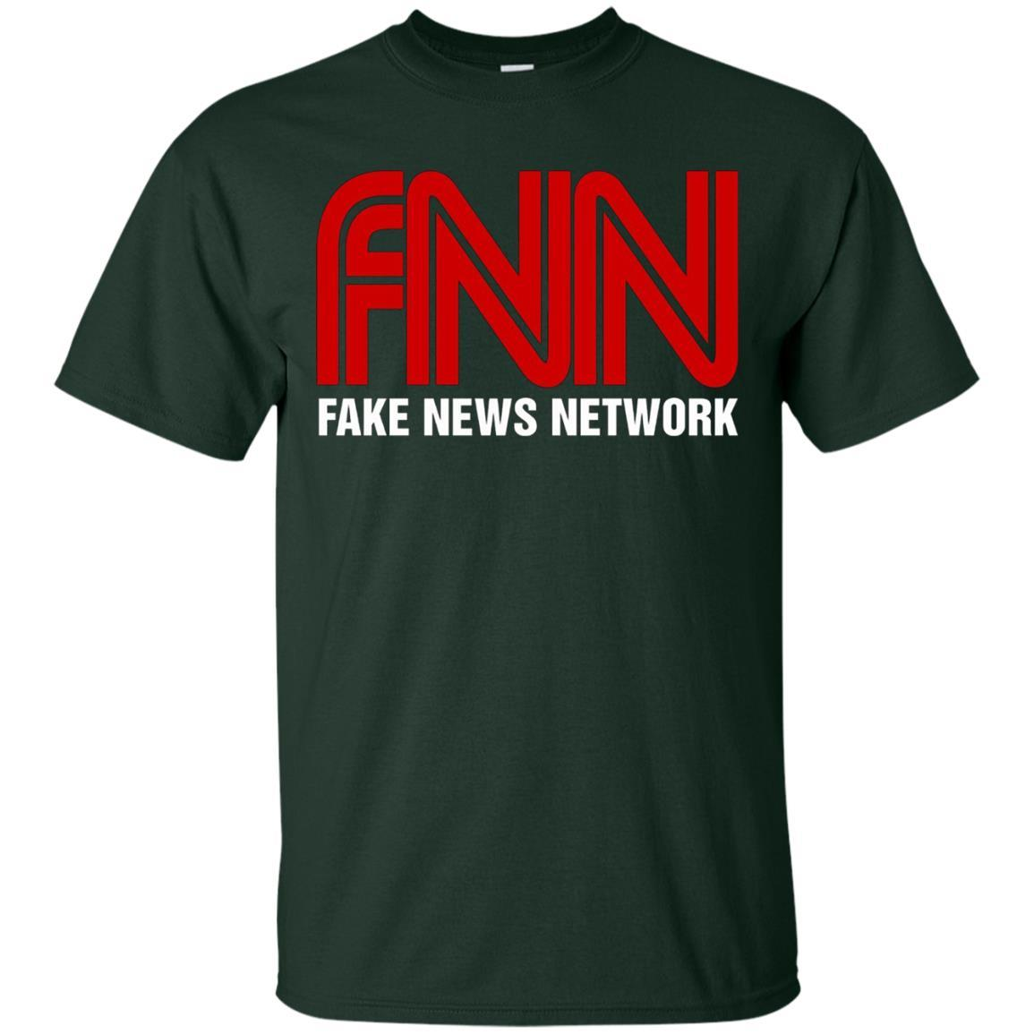 Fake News Network T-Shirt - Funny FNN Logo Humor Quote Tee Forest / 5XL
