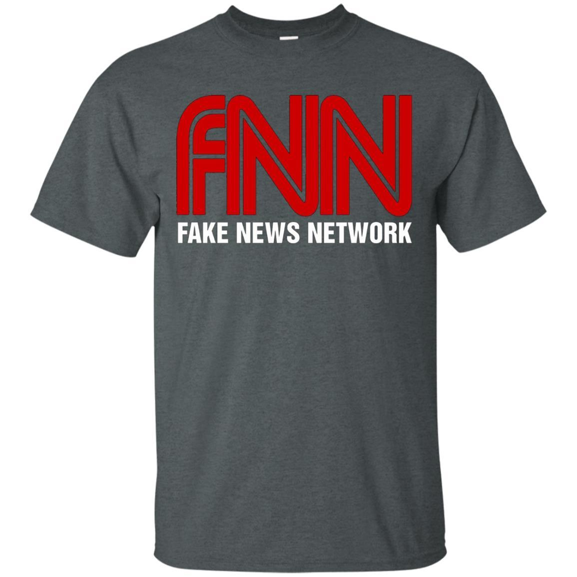 Fake News Network T-Shirt - Funny FNN Logo Humor Quote Tee Dark Heather / 5XL