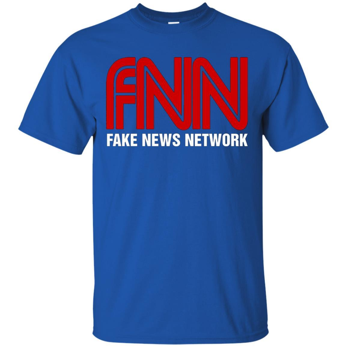 Fake News Network T-Shirt - Funny FNN Logo Humor Quote Tee Royal / 5XL