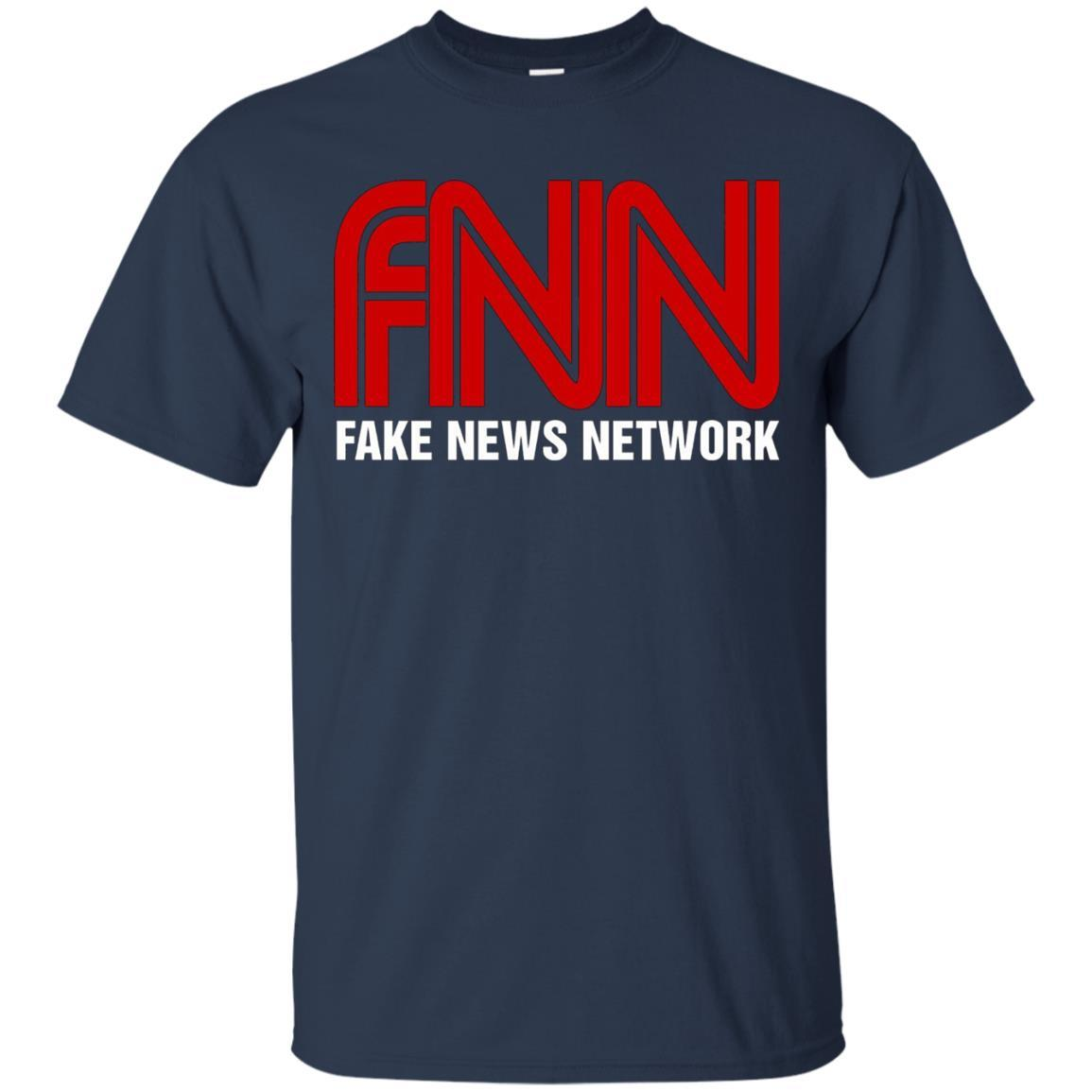Fake News Network T-Shirt - Funny FNN Logo Humor Quote Tee Navy / 5XL