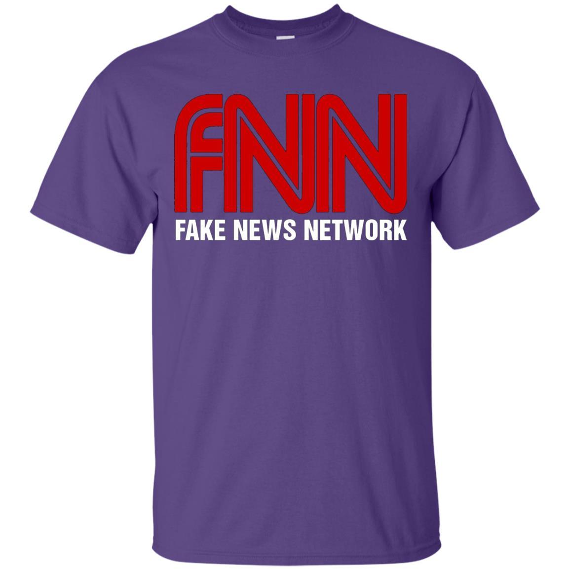 Fake News Network T-Shirt - Funny FNN Logo Humor Quote Tee Purple / 5XL