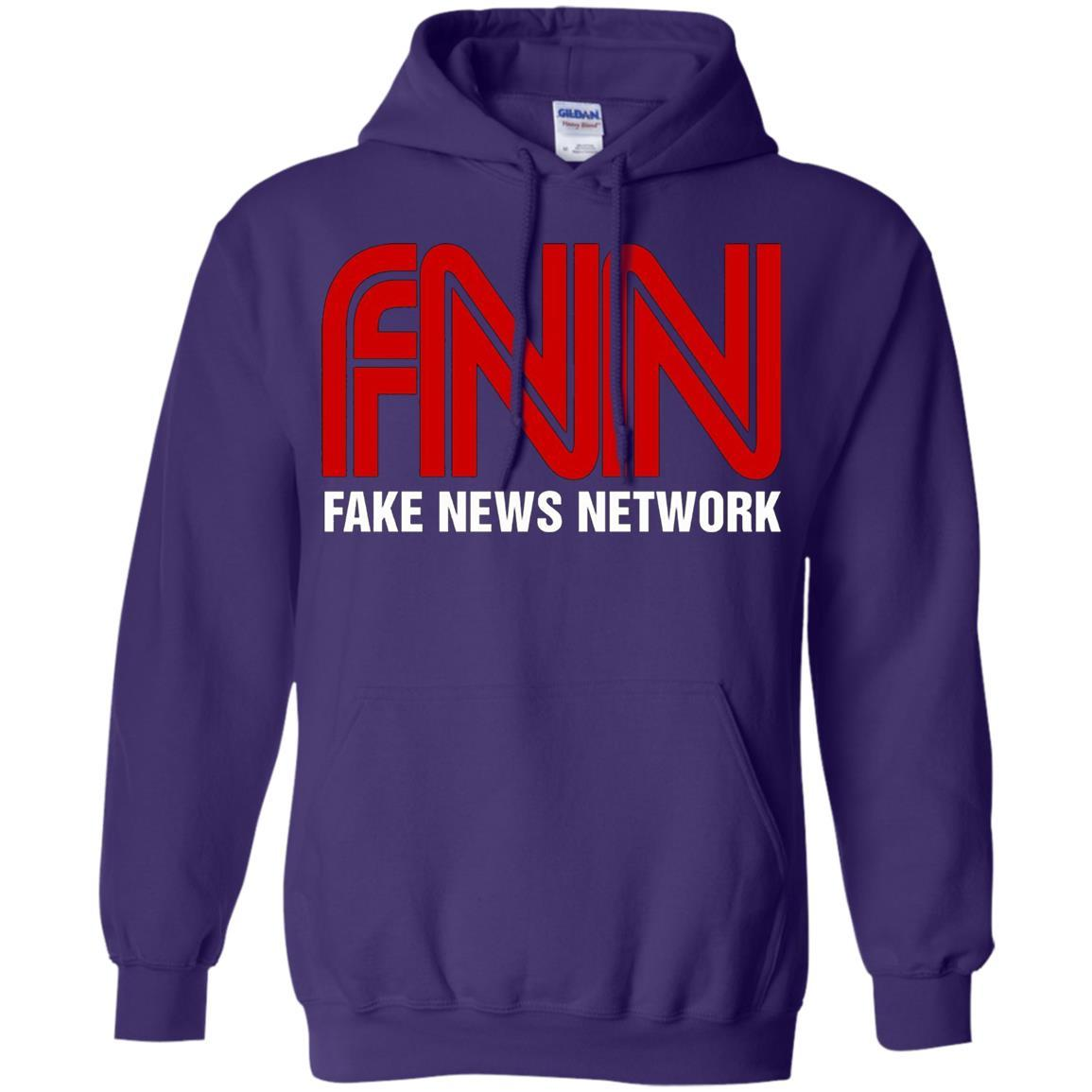 Fake News Network - Funny FNN Logo Humor Quote Tee - Pullover Hoodie Purple / 5XL