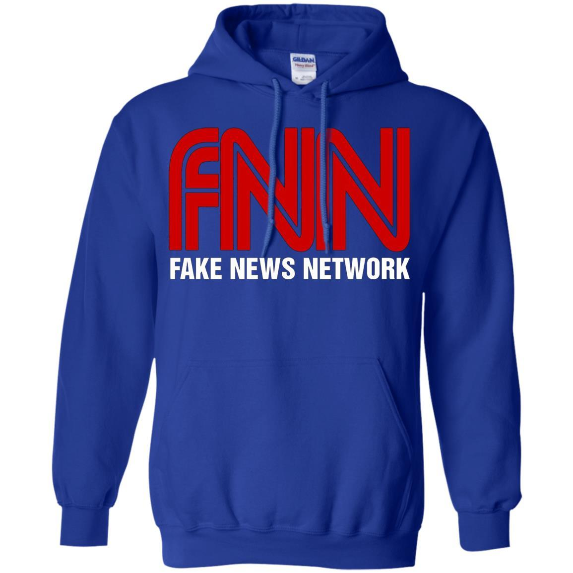 Fake News Network - Funny FNN Logo Humor Quote Tee - Pullover Hoodie Royal / 5XL