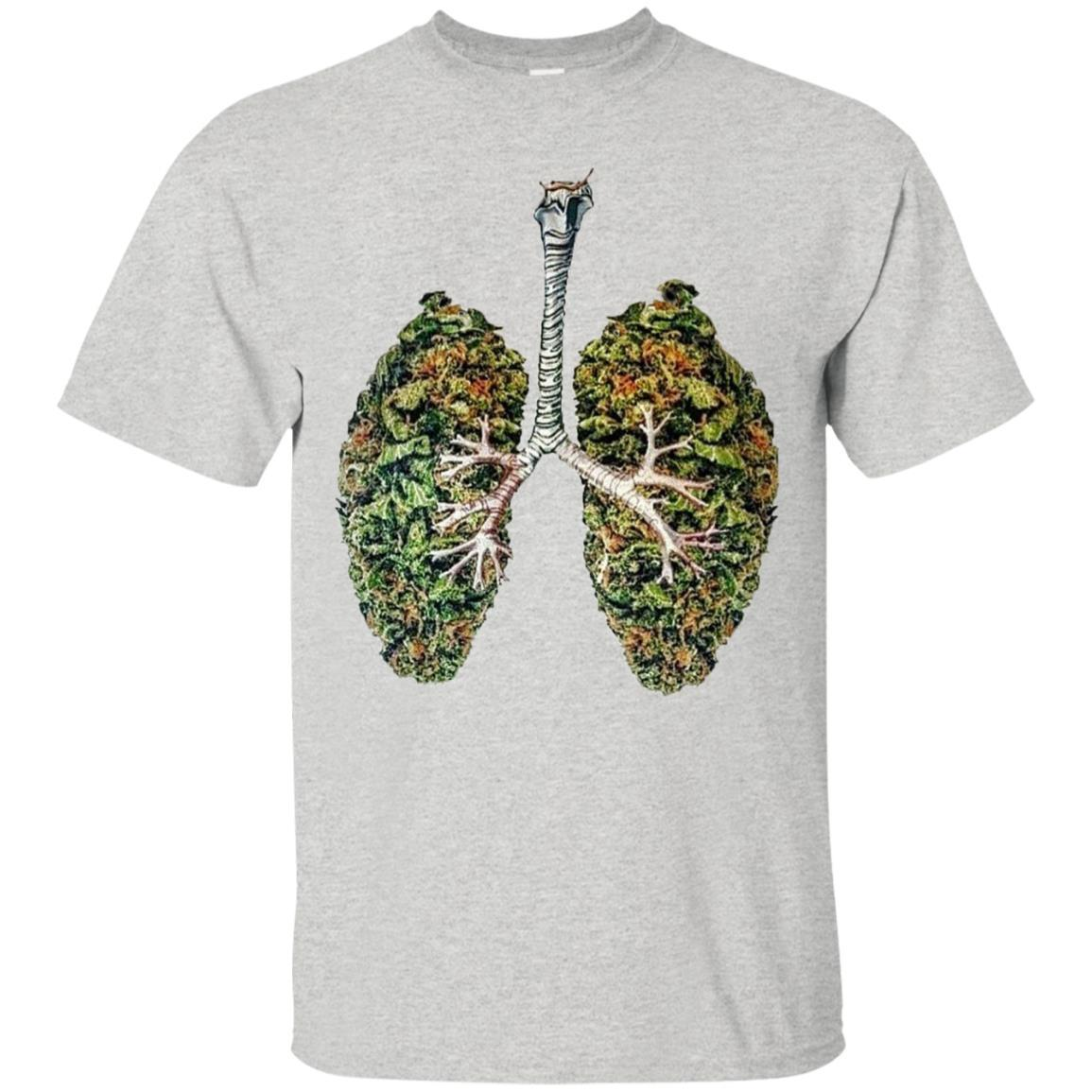 My Weed Lungs T-Shirt Ash / 5XL
