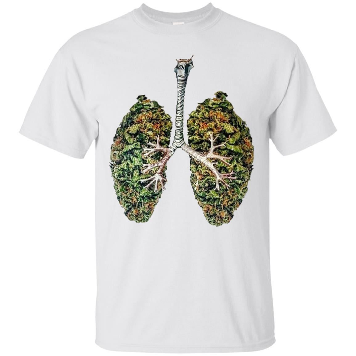 My Weed Lungs T-Shirt White / 5XL