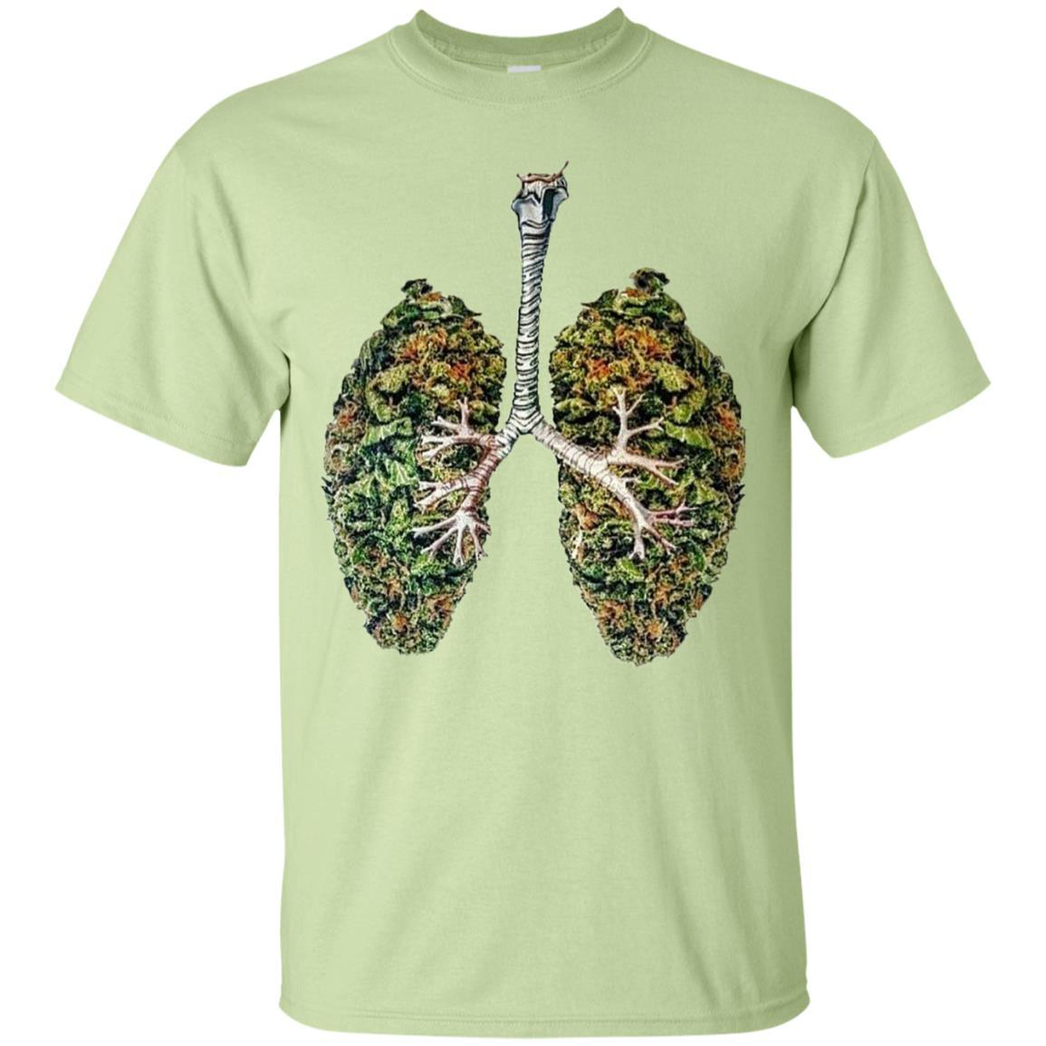 My Weed Lungs T-Shirt Pistachio / 5XL