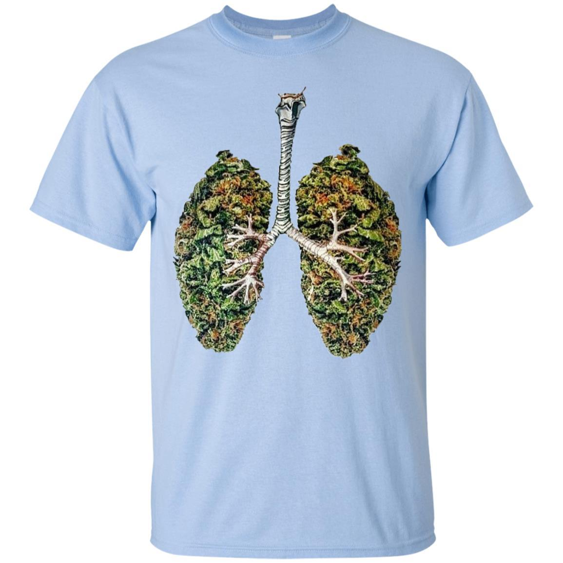 My Weed Lungs T-Shirt Light Blue / 5XL