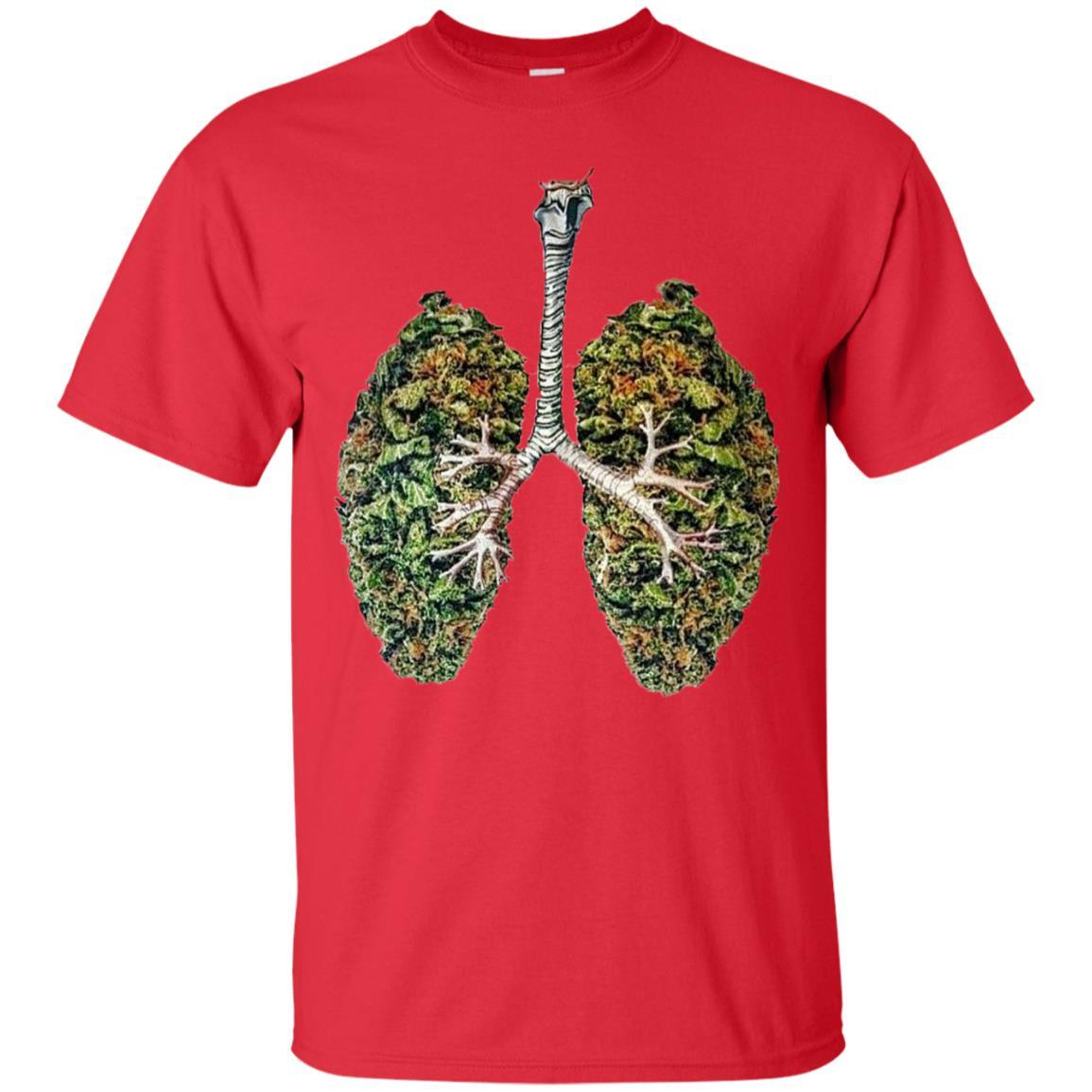 My Weed Lungs T-Shirt Red / 5XL
