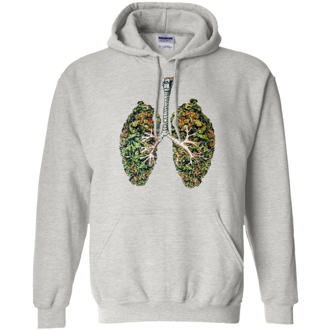 My Weed Lungs - Pullover Hoodie Ash / 5XL