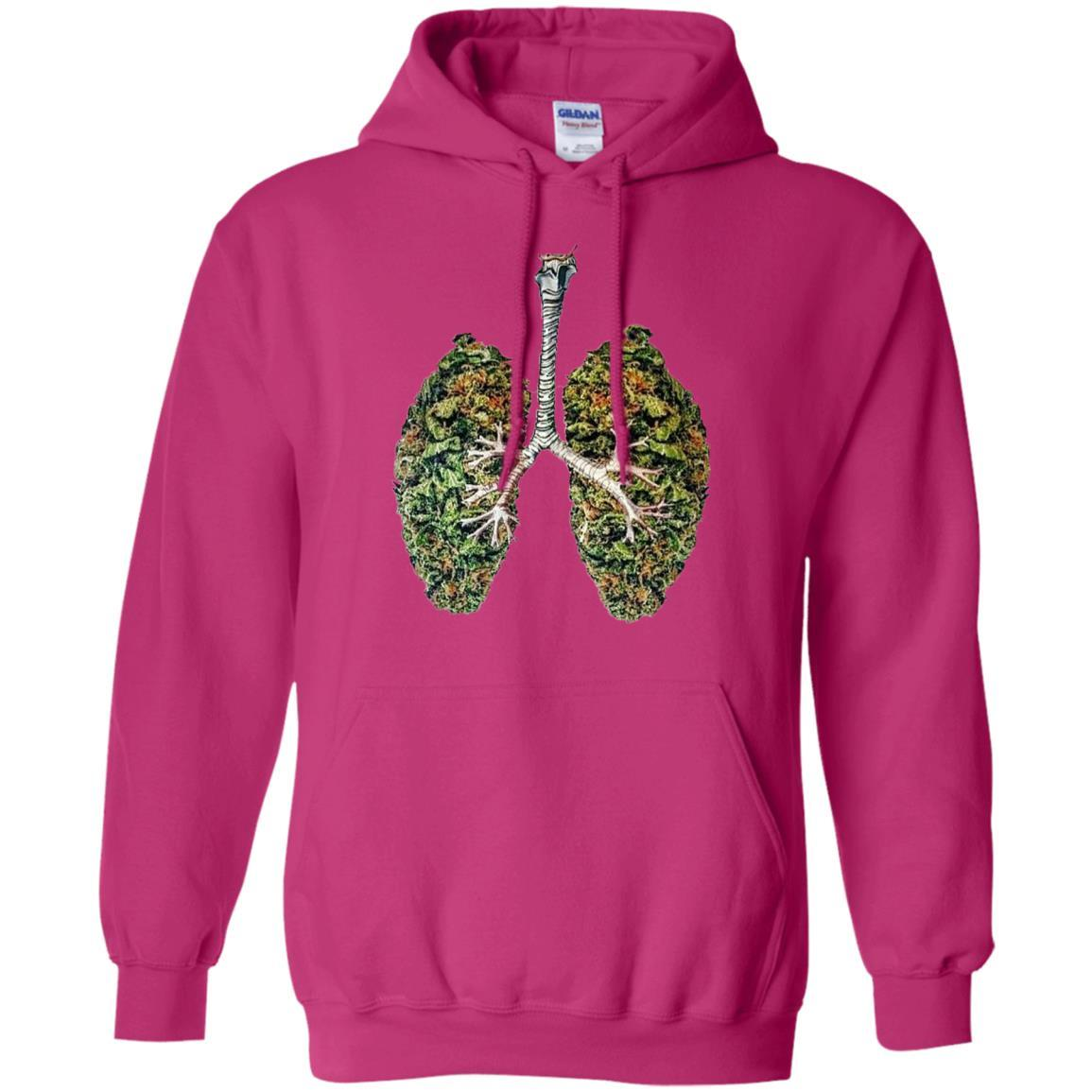 My Weed Lungs - Pullover Hoodie Heliconia / 5XL