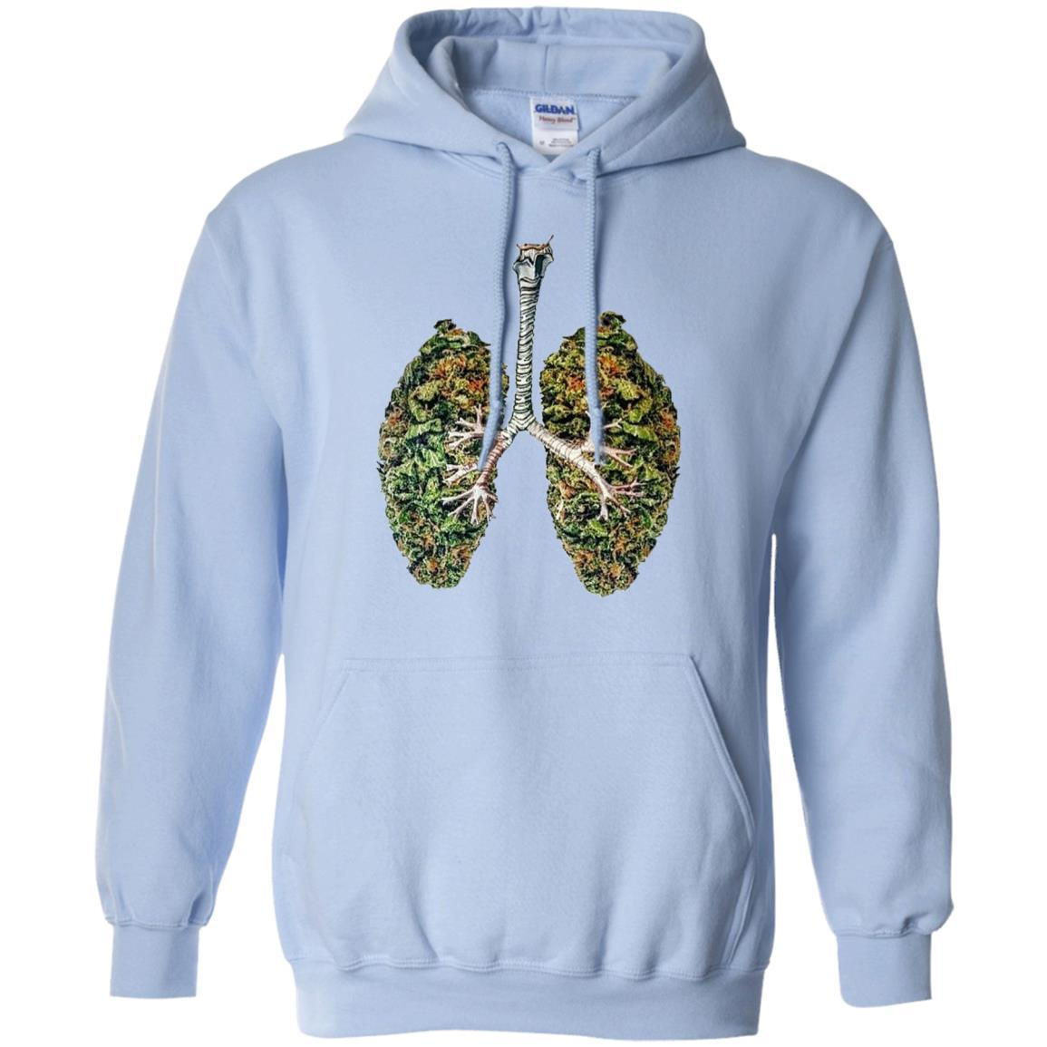 My Weed Lungs - Pullover Hoodie Light Blue / 5XL