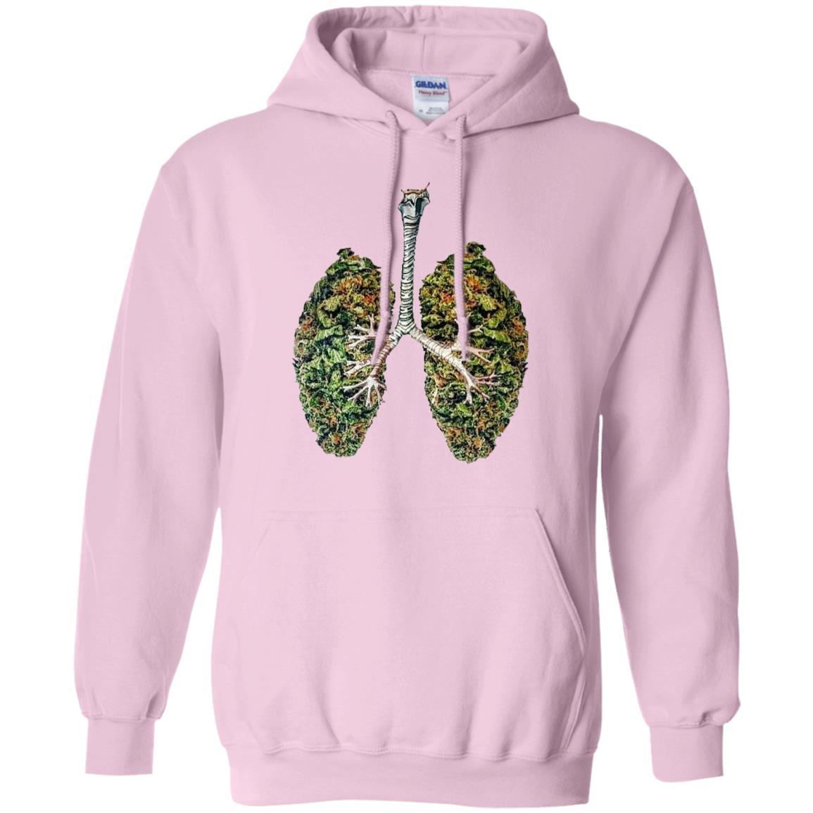 My Weed Lungs - Pullover Hoodie Light Pink / 5XL