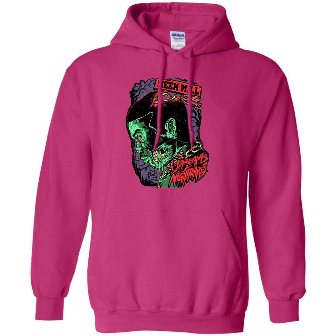 Meek Mill Zombie Tee Shirt Halloween - Pullover Hoodie Heliconia / 5XL