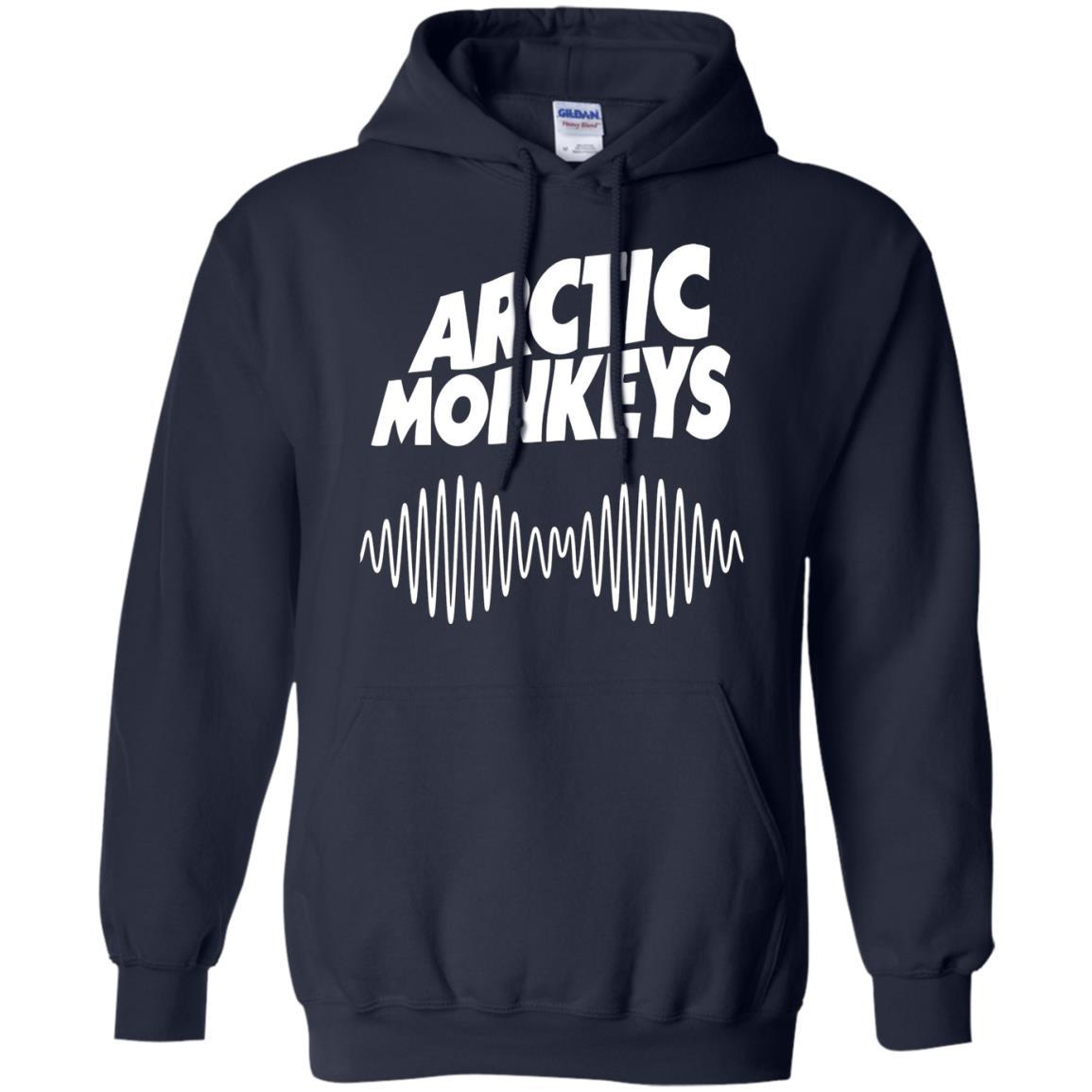 Artic Monkeys Soundwave Music Band - Pullover Hoodie Navy / 5XL
