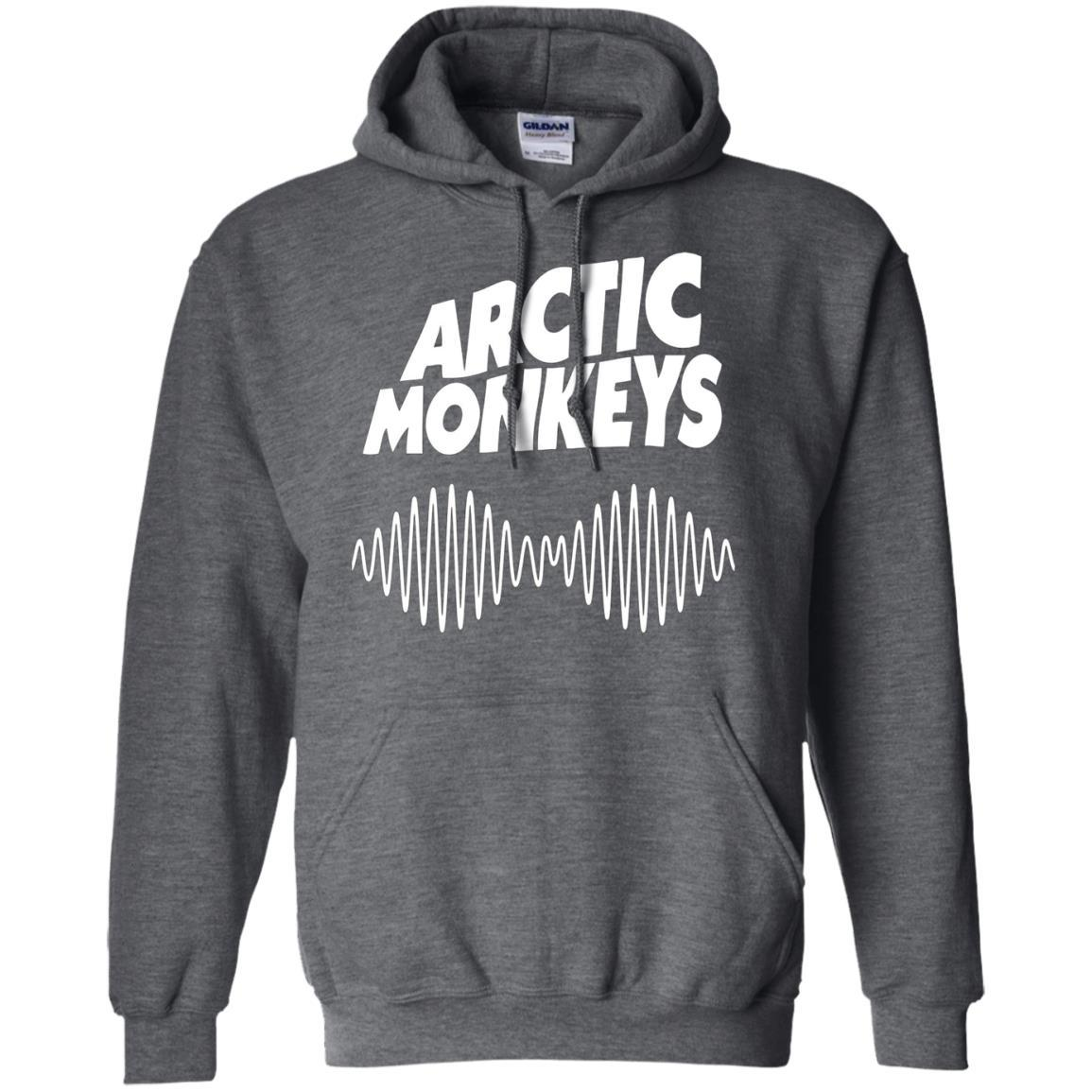 Artic Monkeys Soundwave Music Band - Pullover Hoodie Dark Heather / 5XL
