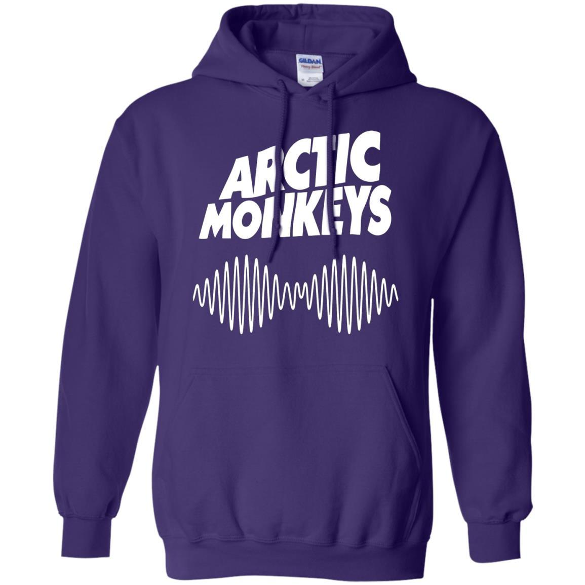 Artic Monkeys Soundwave Music Band - Pullover Hoodie Purple / 5XL