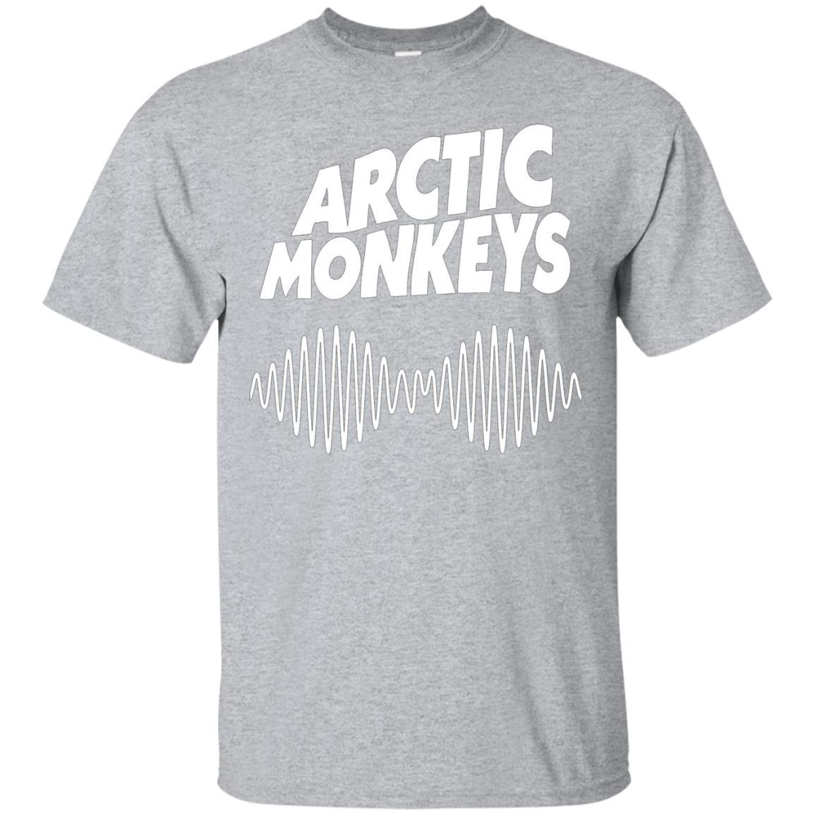 Artic Monkeys Soundwave Music Band Tshirt Sport Grey / 5XL