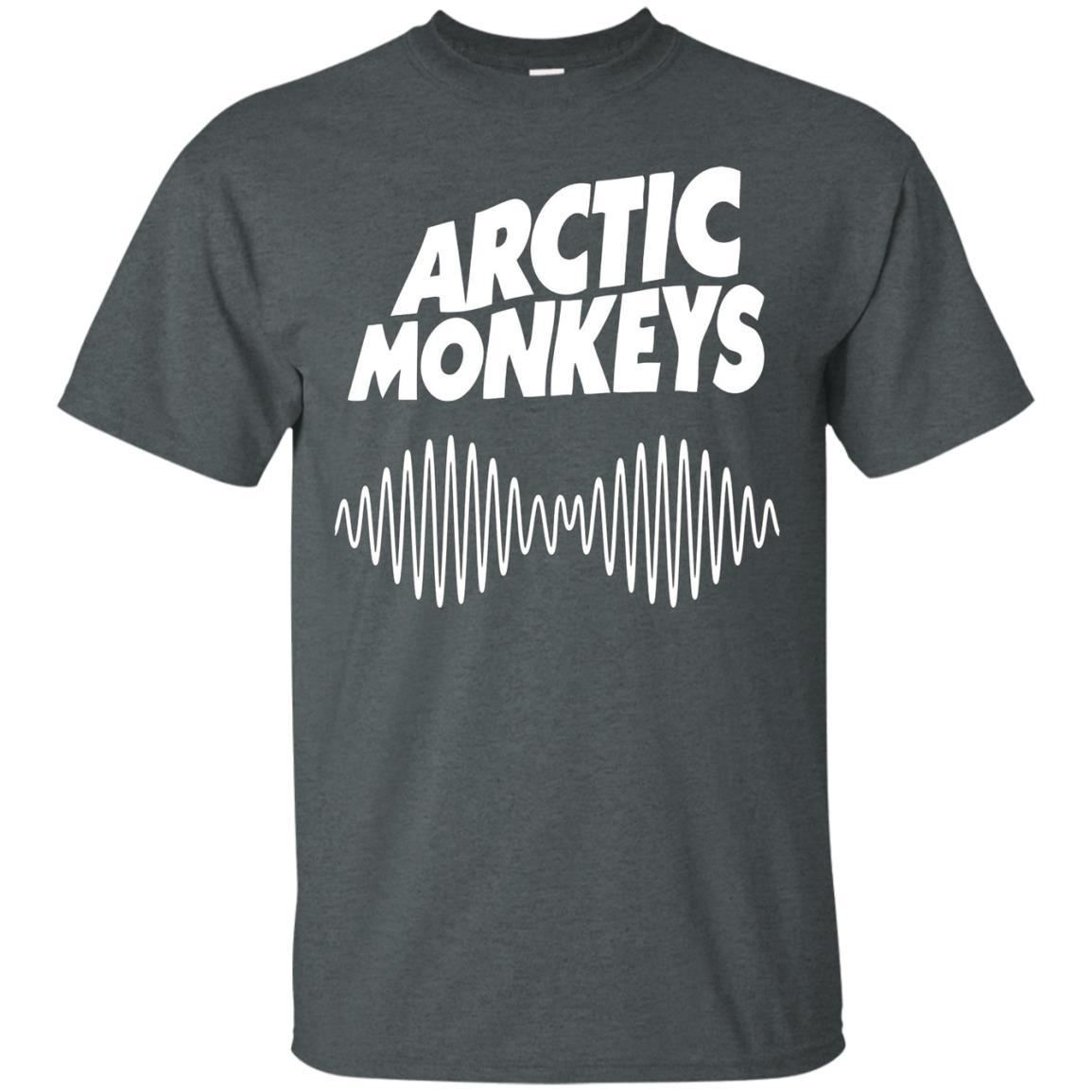 Artic Monkeys Soundwave Music Band Tshirt Dark Heather / 5XL