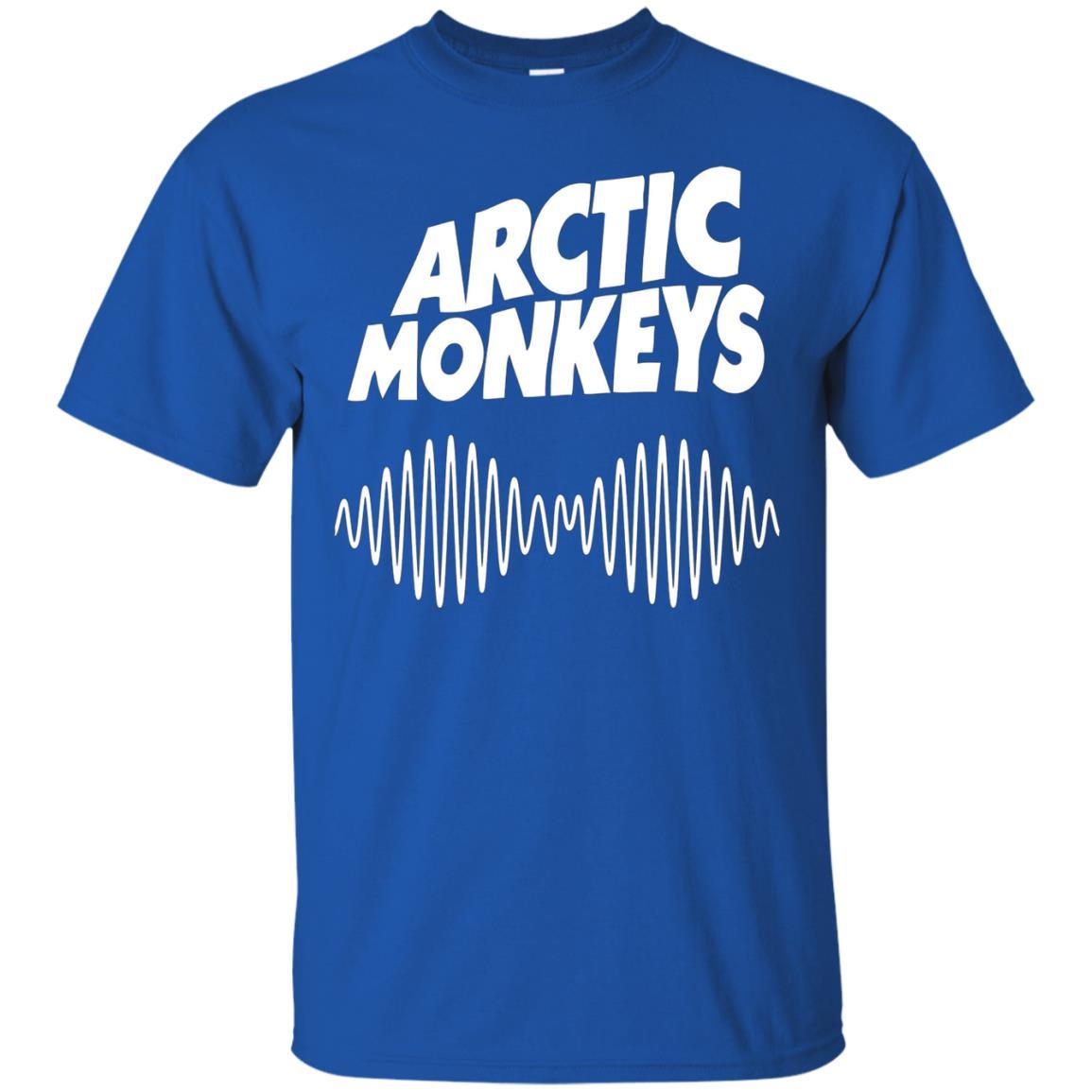 Artic Monkeys Soundwave Music Band Tshirt Royal / 5XL