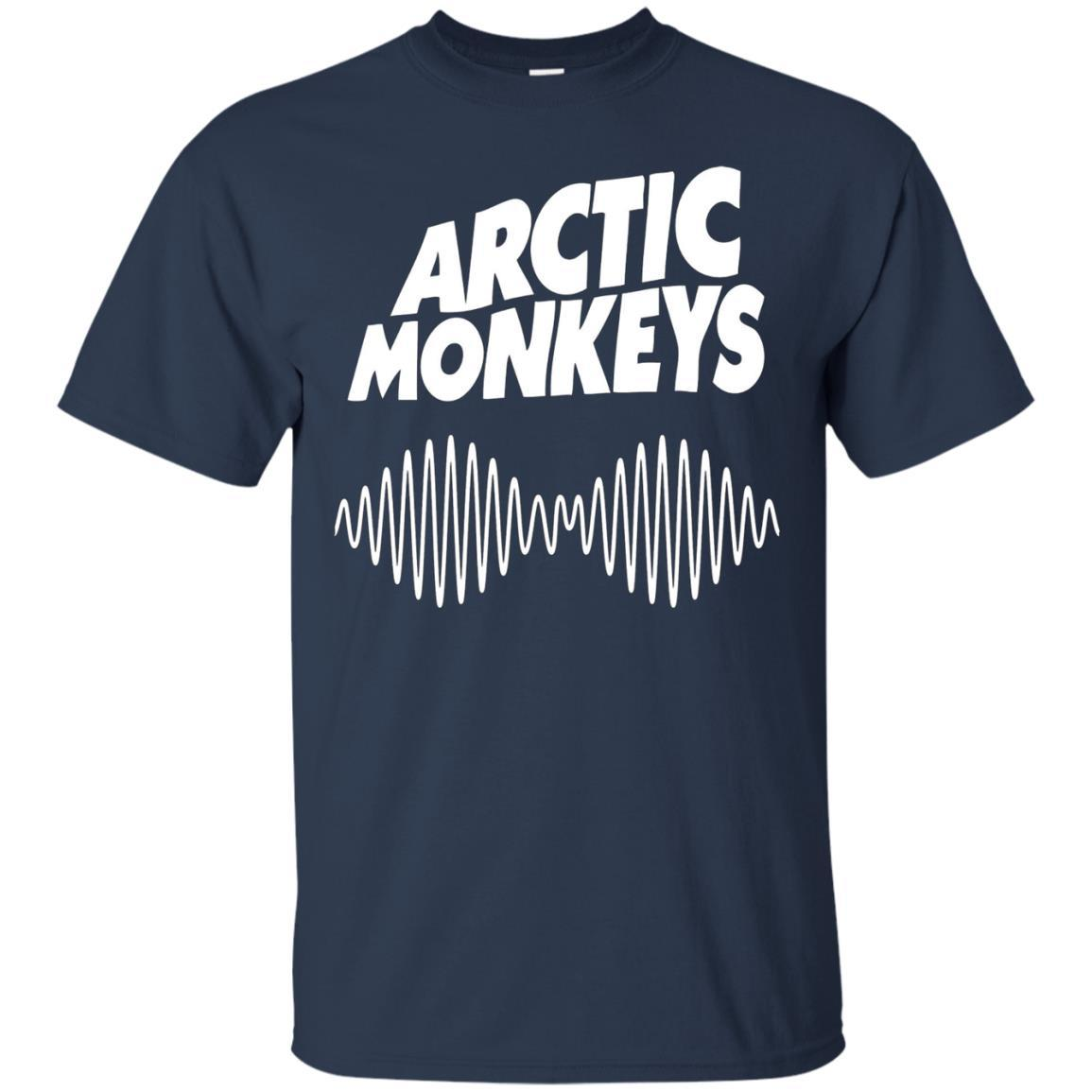 Artic Monkeys Soundwave Music Band Tshirt Navy / 5XL