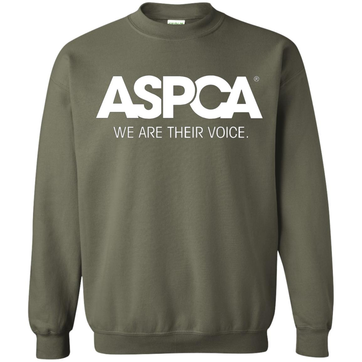 ASPCA Apparel - Crewneck Pullover Sweatshirt Military Green / 5XL