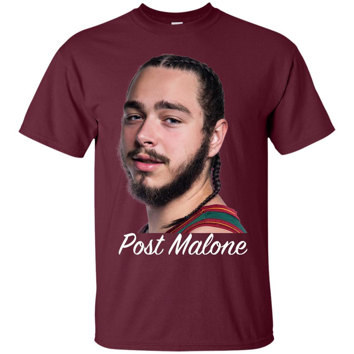 Post Malone White Iverson T-Shirt Maroon / 5XL