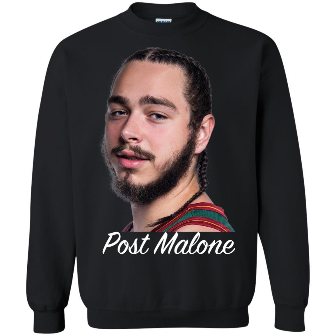 Post Malone White Iverson - Crewneck Pullover Sweatshirt Black / 5XL